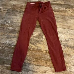 Burgundy Gap jeans